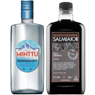 Koskenkorva Salmiakki 0,5l + Minttu Peppermint Original 0,5l