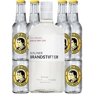 Berliner Brandstifter Dry Gin Deutschland 0,7l + 6 Thomas Henry Tonic 0,2l
