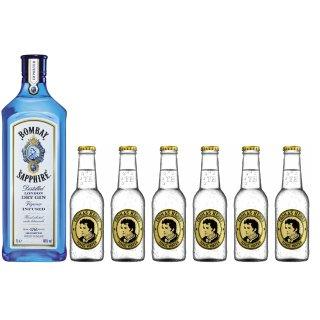 Bombay Sapphire Gin 1x1l + Thomas Henry 6x0,2l