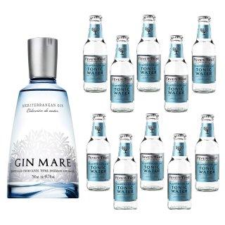 Gin Mare 1x0,7l + Fever Tree Tonic Water Mediterranean 10x0,2l