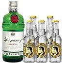 Tanqueray London Dry Gin 1x1,0 l + Thomas Henry Tonic 5x0,2l