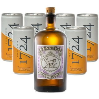 Monkey 47 Gin 1x0,5l mit 1724 Tonic Water 6x0,2l