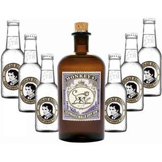 Monkey 47 Schwarzwald Dry Gin 1x0,5l & Thomas Henry Tonic Water 6x0,2l