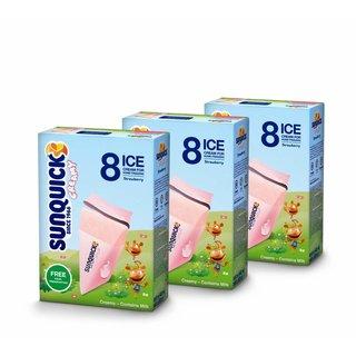 Sunquick creamy Wassereis mit Milch 3x8x60ml (Erdbeere)