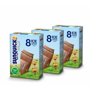 Sunquick creamy Wassereis mit Milch 3x8x60ml (Cocoa)