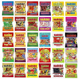 Haribo Mischpaket ca. 4,0 Kg, 20 verschiedene Artikel (30Stück)