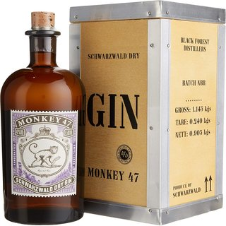 Monkey 47 Gin 1x0,5l mit Holzkiste