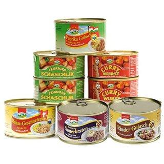 6er Set Currywurst, Paprikagulasch & Co., 2,8 kg mit 6 Sorten