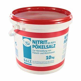 Nitritpökelsalz mit 0,4 - 0,5% Natriumnitrit 1x10kg