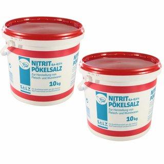 Nitritpökelsalz mit 0,4 - 0,5% Natriumnitrit 2x10kg
