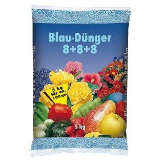 Blaudünger Gartendünger 8+8+8 Blaukorn Obst Gemüse 1x5kg