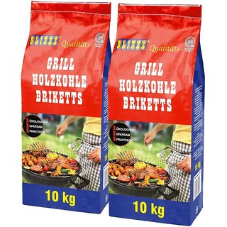 BLIXXX Grillbriketts / Holzkohlebriketts 2x10kg (20kg)