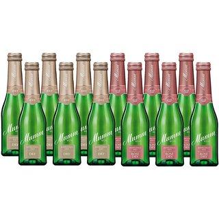 Mumm Mixpaket bestehend aus Mumm Mini Rosé Dry 6x0,2l & Mumm Mini Dry Jahrgangssekt 6x0,2l