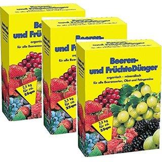 Beerendünger & Früchtedünger 3x2,5kg