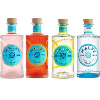 Malfy Range Set, Originale + Con Limone + Rosa + Con Arancia 4x0,7l