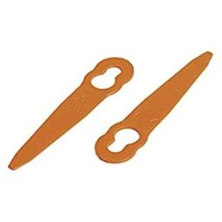 Ratioparts 20 Ersatzmesser als Ersatz für Polycut 2-2 Mähkopfmesser, orange