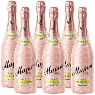 Mumm Rosé Dry Alkoholfreier Jahrgangssekt 6x0,75l